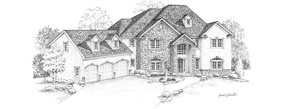 Smithfield front house sketch