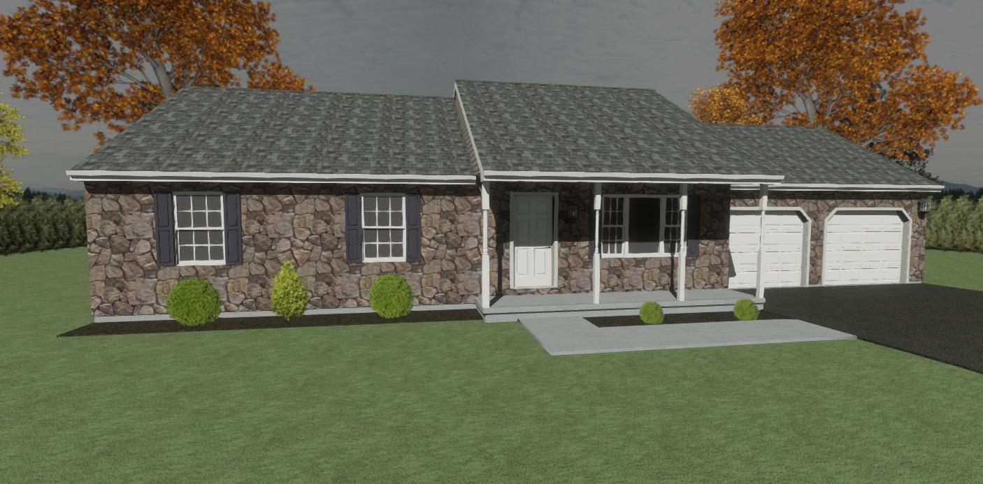 Rancher Yes - 3 Rooms - 2 Bathrooms  2-car garage (optional)