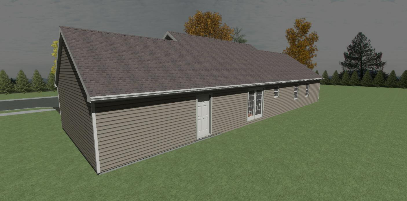 Rancher Yes - 3 Rooms - 2 Bathrooms --  1-car garage (optional) - 1415