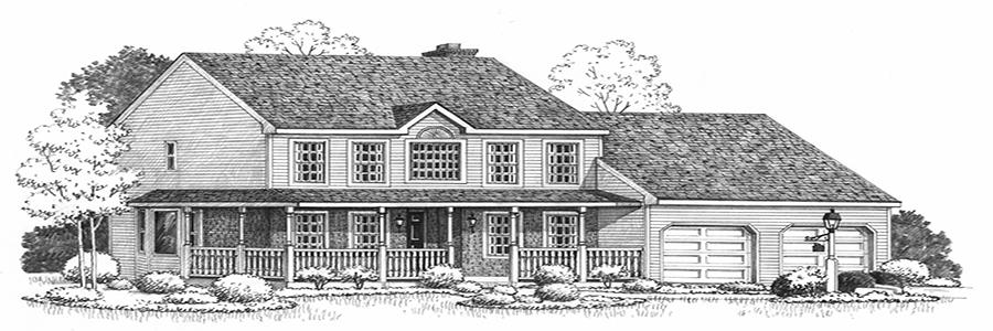 Jefferson  House Sketch