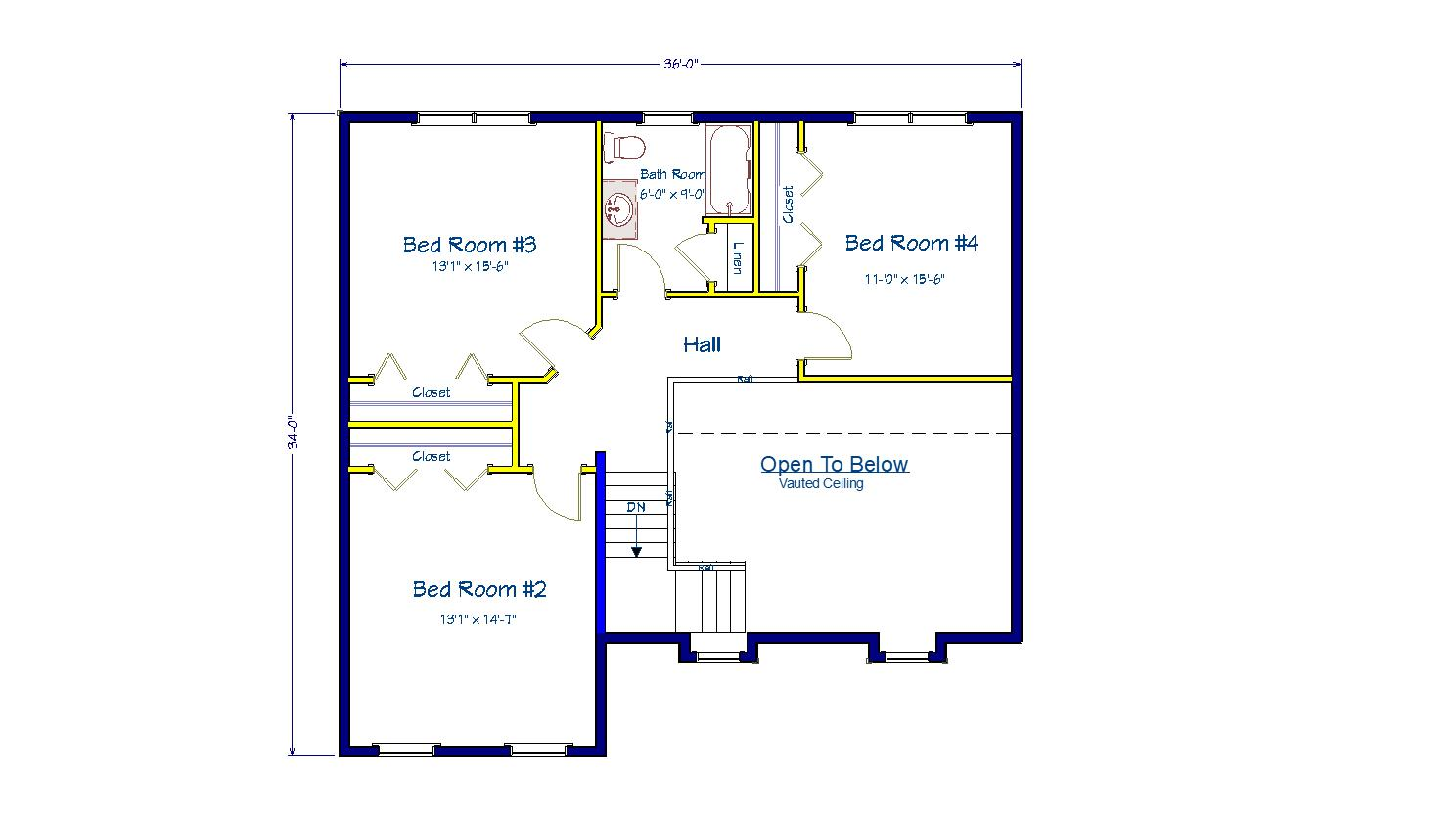4 Rooms Rooms,2.5 BathroomsBathrooms,Two - Story,1031