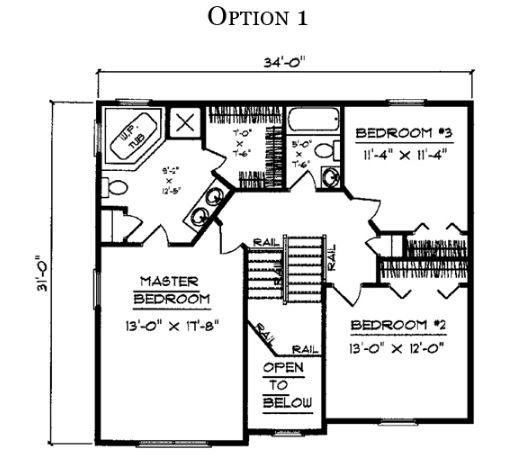 Stafford floor plan option 1